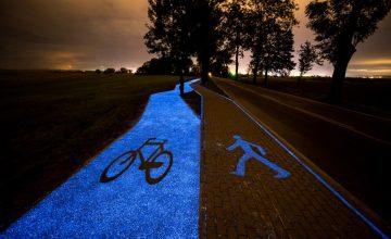 világító bicikli út